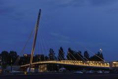 puente Cable-permanecido, Tampere Imagen de archivo