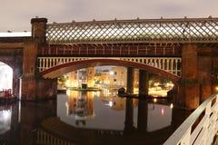 Puente - Castlefield en el centro de Manchester City Imagen de archivo