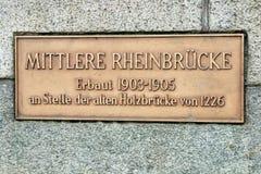 Puente central del Rin (cke del ¼ de Mittlere RheinbrÃ) Imagen de archivo libre de regalías