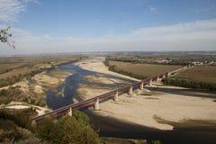 Puente cerca de Santarem Fotografía de archivo