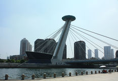 Puente chino de la ciudad Fotos de archivo