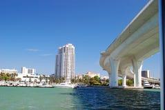 Puente claro de la Florida del agua fotografía de archivo