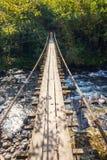 Puente colgado fotos de archivo