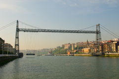 Puente Colgante или мост Vizcaya, Испания Стоковое фото RF