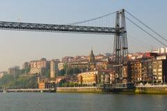 Puente Colgante или мост Vizcaya, Испания Стоковые Фотографии RF
