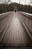 Puente colgante Imagen de archivo libre de regalías