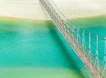 Puente colgante Foto de archivo