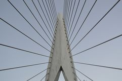 Puente colgante Amsterdam Imagenes de archivo
