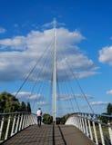 Puente colgante de Christchurch fotos de archivo