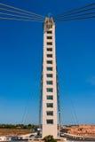 Puente colgante de Elche Alicante Bimilenario sobre Vinalopo Fotografía de archivo libre de regalías