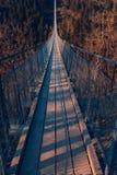 Puente colgante de Geierlay Fotos de archivo libres de regalías
