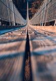 Puente colgante de Geierlay Imagen de archivo