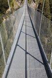 Puente colgante de Holzgau Fotografía de archivo libre de regalías