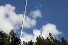 Puente colgante de Holzgau Imagen de archivo libre de regalías