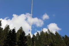 Puente colgante de Holzgau Foto de archivo libre de regalías