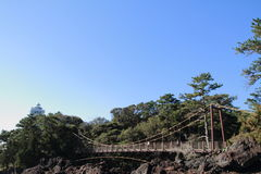 Puente colgante de Kadowaki fotos de archivo libres de regalías