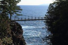 Puente colgante de Kadowaki fotos de archivo