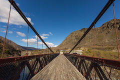 Puente colgante de la garganta de Kawarau imágenes de archivo libres de regalías