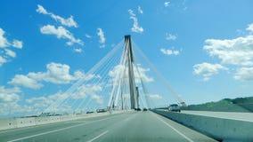 Puente colgante de Mann del puerto Imagenes de archivo