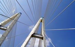 Puente colgante del arco del fragmento Fotos de archivo