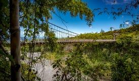 Puente colgante del De East River Foto de archivo
