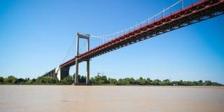 Puente colgante del río de Garona de Aquitaine Bordeaux France imagenes de archivo