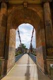 Puente colgante del sur de la calle de Portland en Glasgow, Escocia Fotografía de archivo libre de regalías