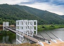 Puente colgante doble fotografía de archivo libre de regalías