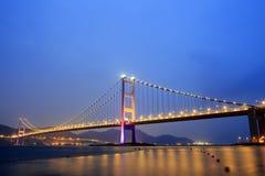 Puente colgante en Hong Kong Foto de archivo libre de regalías
