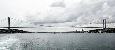 Puente colgante, Estambul Fotografía de archivo