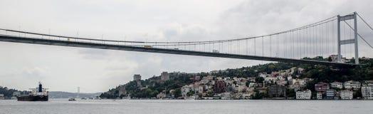 Puente colgante, Estambul Imagenes de archivo