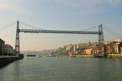 Puente Colgante o puente de Vizcaya, España Foto de archivo libre de regalías