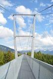 Puente colgante panorámico Sigriswil Imagenes de archivo