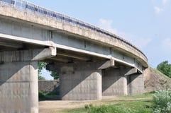 Puente concreto en Europa del este Fotografía de archivo