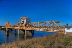 Puente Courtland HDR del delta Fotografía de archivo