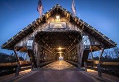 Puente cubierto de Frankenmuth Michigan foto de archivo