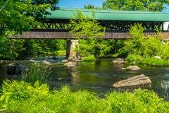 Puente cubierto de Rowell Foto de archivo