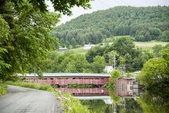 Puente cubierto de Taftsville Imagenes de archivo