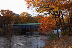 Puente cubierto de Vermont Fotos de archivo