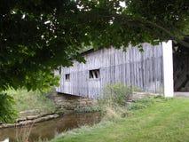 Puente cubierto del camino de Dinamarca Fotos de archivo libres de regalías