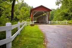 Puente cubierto del camino de Everett Fotos de archivo libres de regalías