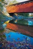 Puente cubierto del camino de Everett Foto de archivo libre de regalías