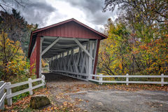 Puente cubierto del camino de Everett Imagen de archivo libre de regalías