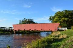 Puente cubierto 4 del Hogback Fotos de archivo