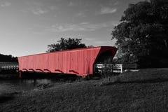 Puente cubierto del Hogback Imagen de archivo