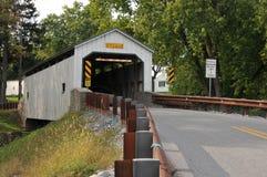 Puente cubierto del molino de Kellers Fotos de archivo libres de regalías
