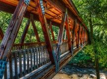 Puente cubierto del molino de Roswell Fotografía de archivo libre de regalías