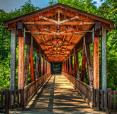 Puente cubierto del molino de Roswell Foto de archivo