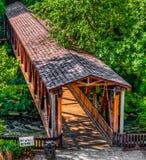 Puente cubierto del molino de Roswell Imágenes de archivo libres de regalías