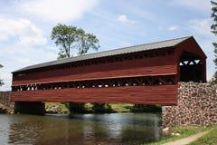 Puente cubierto en Pennsylvania Fotografía de archivo libre de regalías